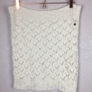 Roxy Cream Knit Infinity Scarf